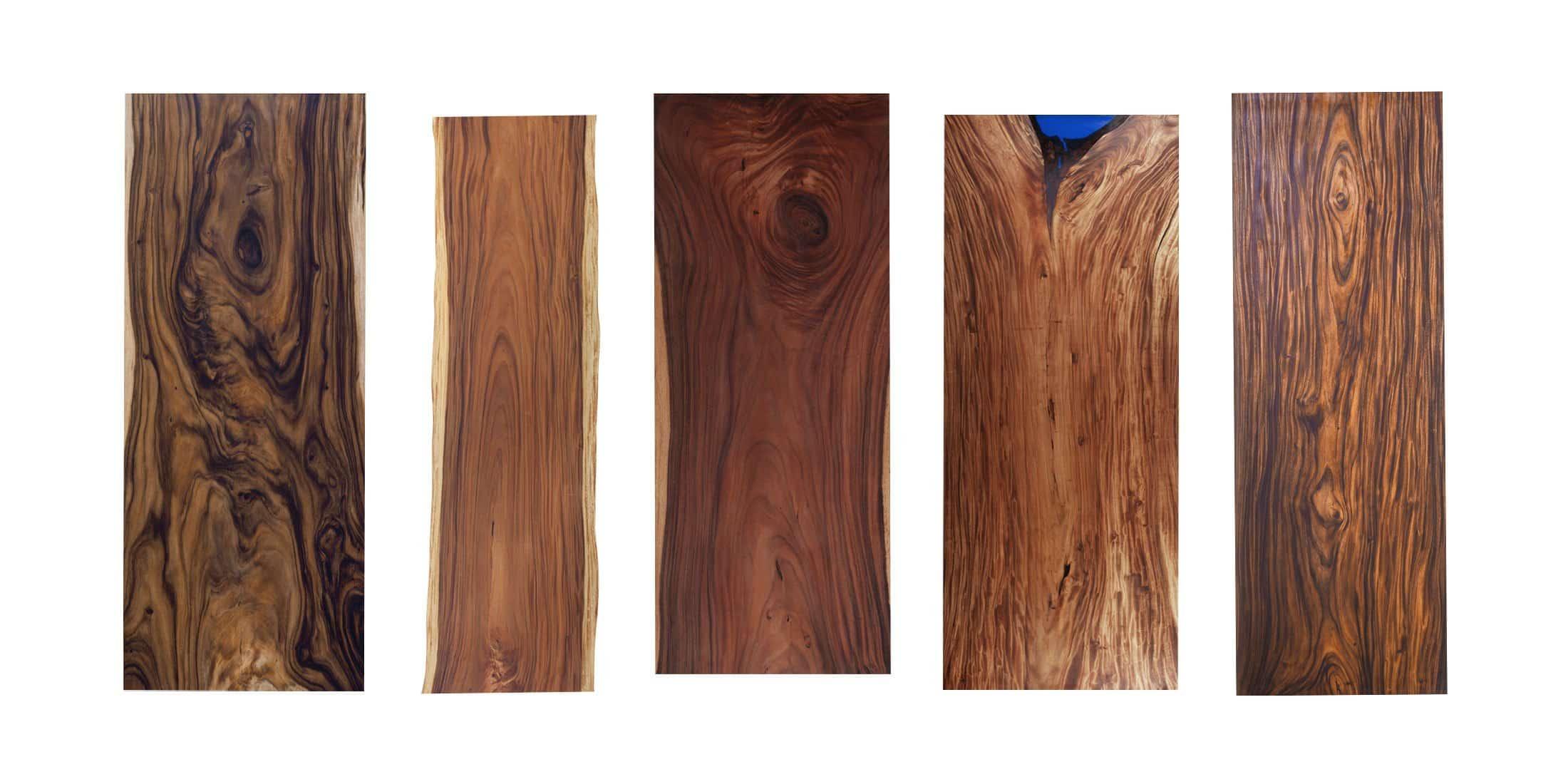 massive Echtholz Tischblätter aus Suar Holz
